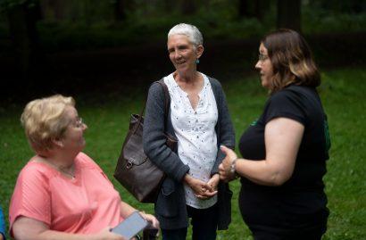 Ann Cleeves meets community members